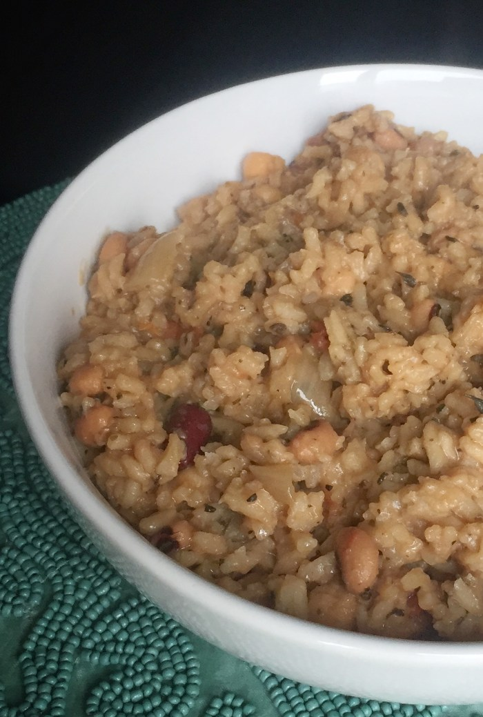 Vegetarian Three Bean Cook-up Rice