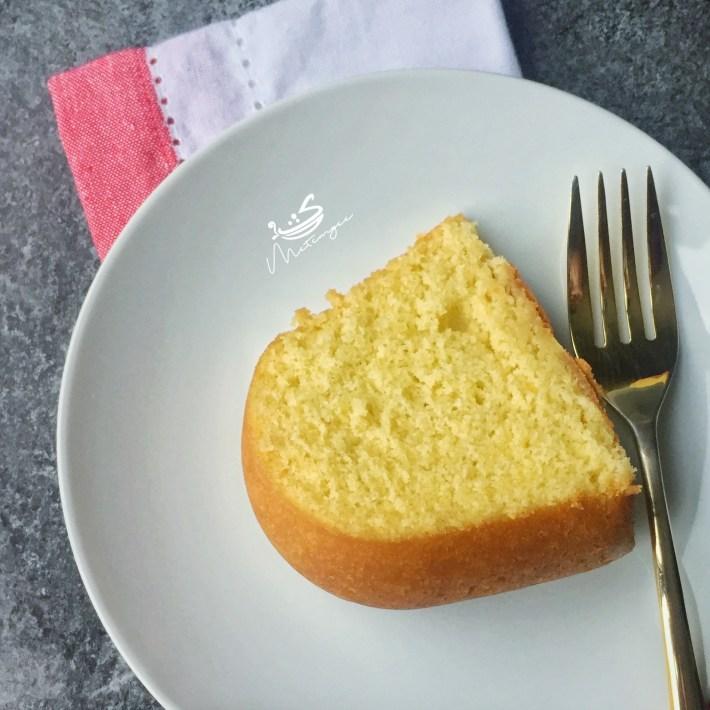 Delicious slice of Guyanese style sponge cake