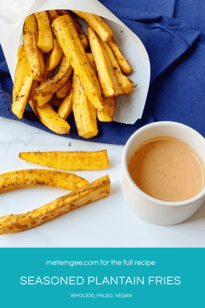 Seasoned Plantain Fries Pinterest Poster