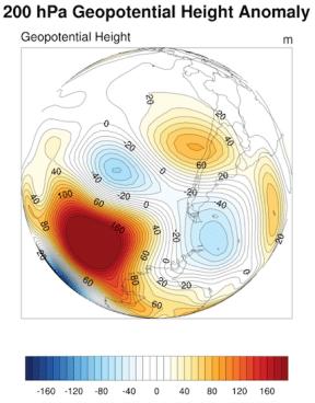 Anomalía de 200 hPa. (Fuente datos: NCEP-NCAR)