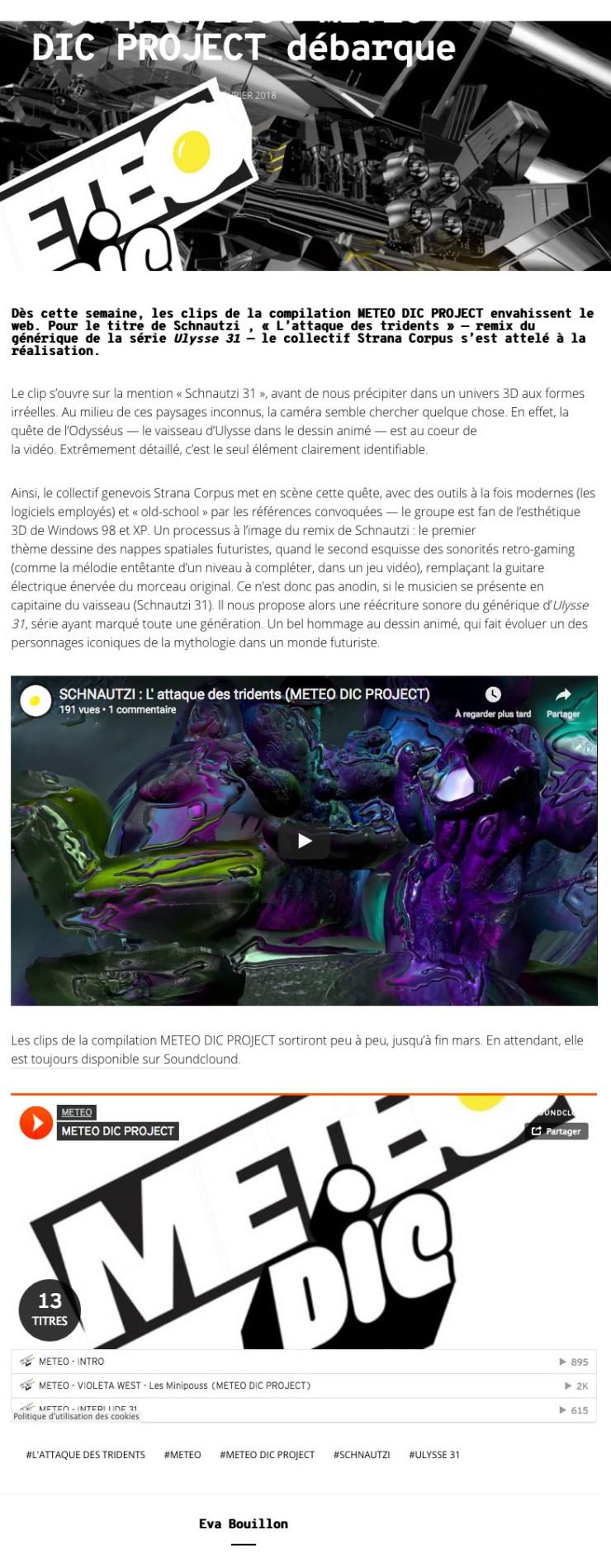 Screenshot-2018-3-11 Le premier clip de la playlist METEO DIC PROJECT débarque