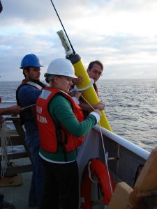 Deploying an Argo float. Photo by NOAA