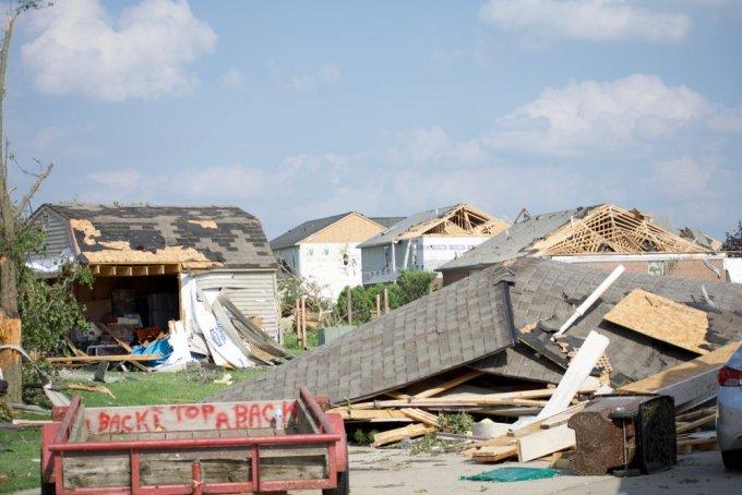 Storm damage in Dayton, Ohio (Shutterstock)