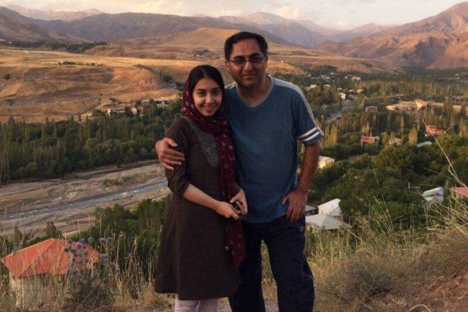 Sirous Asgari with his daughter in Taleghan, Iran, in 2016. (Courtesy of Mohammad Hosein Asgari)