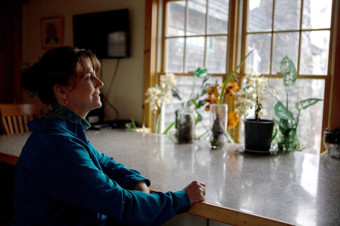 """After paying more than $9,000 in premiums and fees over 13 months to O'NA HealthCare, Jill Goodridge says, she could not get O'NA to cover her family's medical bills. Frustrated, the Rockland, Maine, resident complained to state regulators in summer 2018. """"It almost seemed like we were just spending the premium money every month for really not much,"""" she says. (Shelby Knowles for KHN)"""