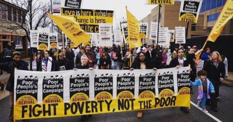 We must go deeper in organizing and uniting people around a visionary and far-reaching agenda that calls for us to reorganize society around the needs and demands of the poor. (Photo: Poor People's Campaign/Twitter)