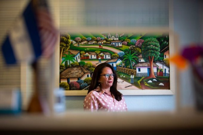 Business owner Irma Corado tapped into local funds rather than navigate the complex federal system. (Annie Mulligan for The Texas Tribune)