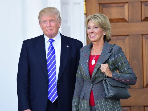 Betsy DeVos with Donald Trump (Shutterstock)