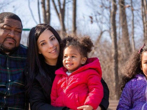 Robert and Melissa Williams, and their young daughters, appeared in a video circulated Wednesday by the ACLU. (Photo: ACLU/YouTube)