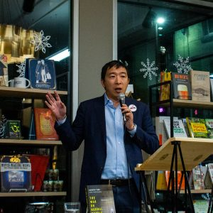 Former presidential candidate Andrew Yang helped popularize universal basic income. Photo: Marc Nozell, (CC BY 2.0)