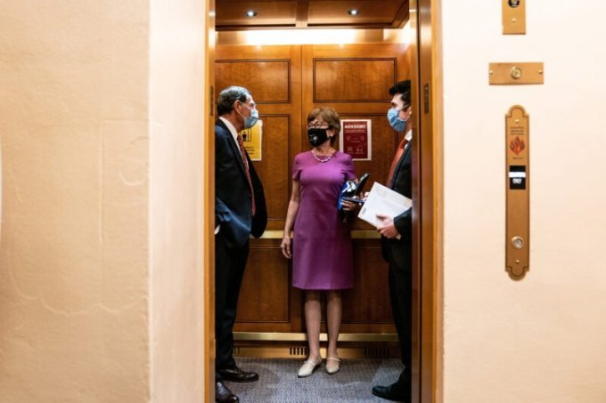 Sen. Susan Collins, R-Maine, on Capitol Hill on July 29. (Anna Moneymaker/The New York Times via Redux)