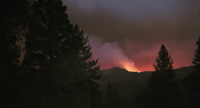 The biggest new fire burning in California right now is so powerful it sent smoke 10 miles straight up into the stratosphere and created its own thunderstorms. 224 people were airlifted by the National Guard. (Photo Sept. 6, 2020, 7:52-am)