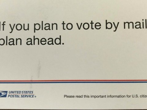 A U.S. Postal Service mailer that is being sent to millions of American households ahead of the November election. (Photo: PolitiFact)
