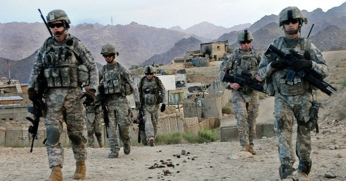 U.S. troops patrol near Forward Operating Base Baylough in Zabul province, Afghanistan on June 16, 2010. (Photo: U.S. Army/Public Domain)