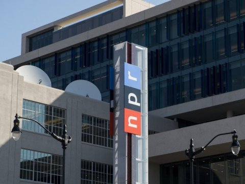 National Public Radio's new headquarters at 1111 North Capitol Street, NE opened on March 25, 2013, in the NOMA district in Washington. (Photo by Bill Clark/Getty Images)
