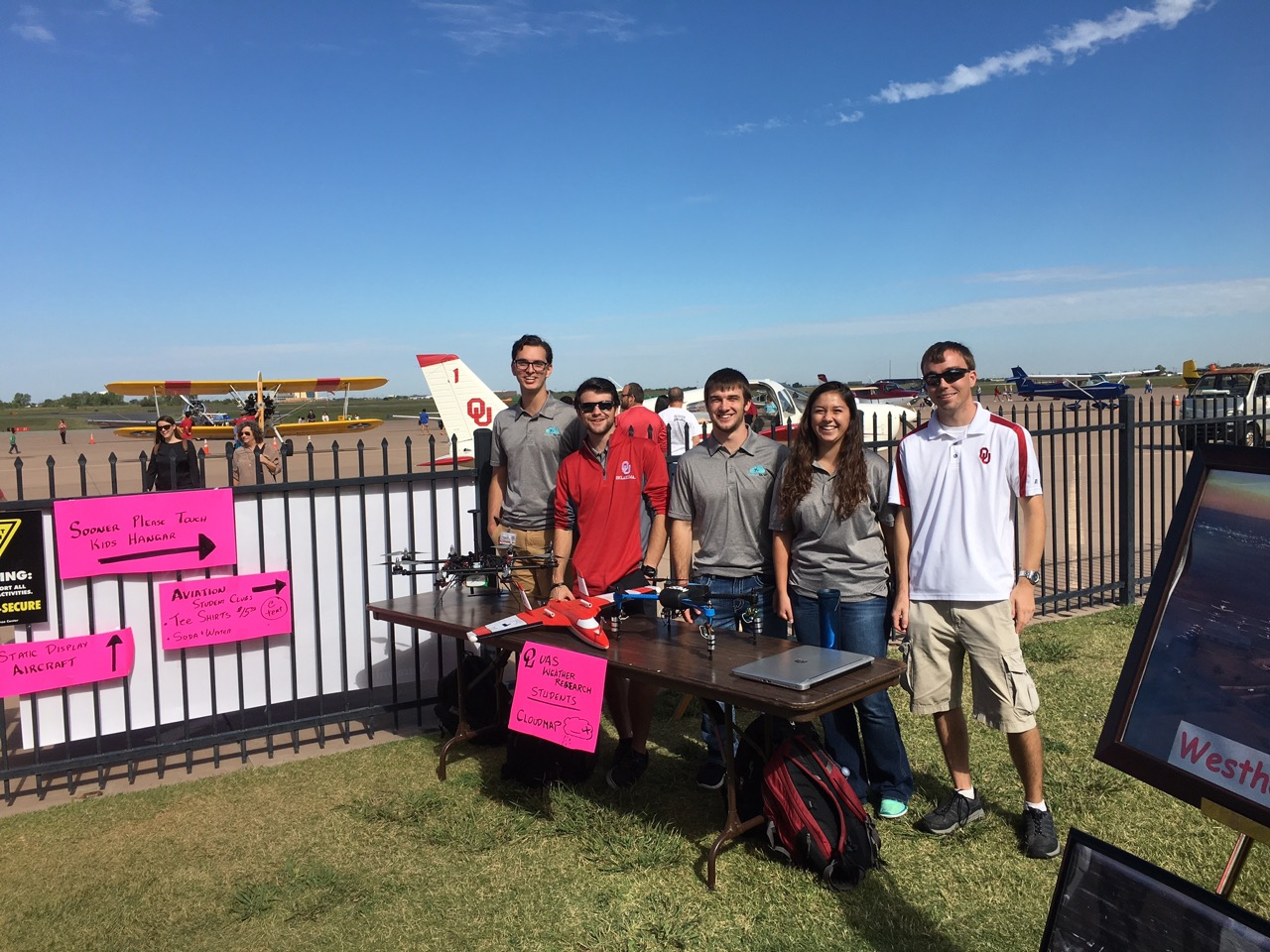 Chilson and team represent OU at 10th Annual Aviation Festival