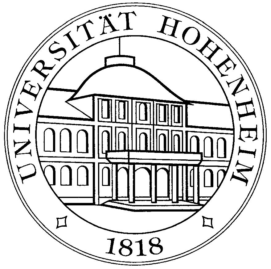 UNIVERSITÄT HOHENHEIM-PhD Position (TV L E13/2)