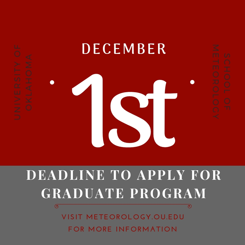 School of Meteorology Updates Grad Application Dates