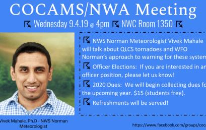COCAMS/NWA Meeting