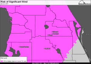 Archived Significant Wind Risk map