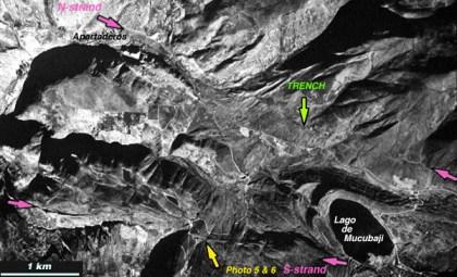 Vista aérea de la falla de Boconó. Fuente: Venciclopedia
