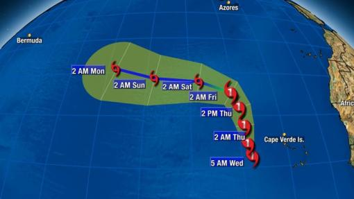 Posible ruta que seguirá el ciclón