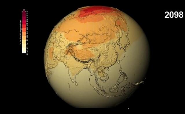 La NASA muestra un video de como La Tierra se irá calentando durante éste siglo