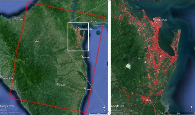 La NASA muestra en imágenes satelitales las regiones de Filipinas más afectadas por el Súper Tifón Haiyan