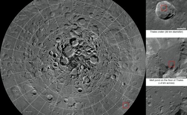 A partir de 10.581 imágenes la NASA presenta el primer mosaico del Polo Norte de La Luna