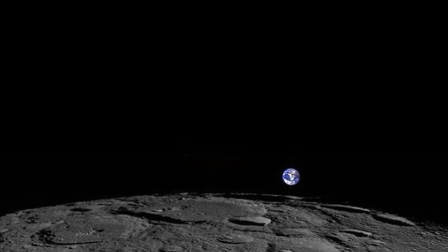Nuestra madre Tierra vista desde la Luna en espectacular captura