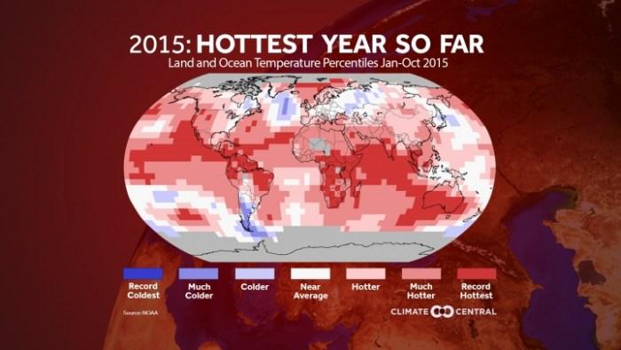 Ocho meses con récord de temperaturas encaminan al año 2015 como el más caluroso de la historia