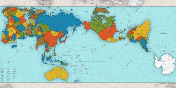 El mapa del planeta que todos usamos desde la escuela y aparece en los Atlas… no es correcto!
