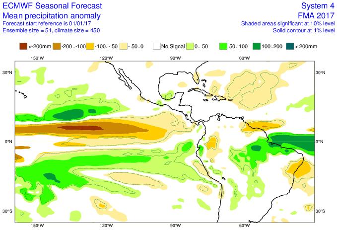 Probabilidades de Lluvias por debajo de la media en gran parte de Venezuela para los próximos meses