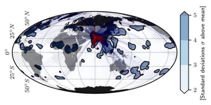Los eventos extremos de lluvias pudieran estar conectados uno con otro alrededor del mundo.
