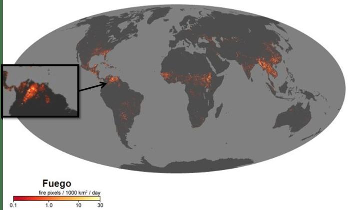 Una animación de la NASA muestra los incendios forestales en nuestro planeta desde el año 2000 al 2018…Venezuela con registros significativos