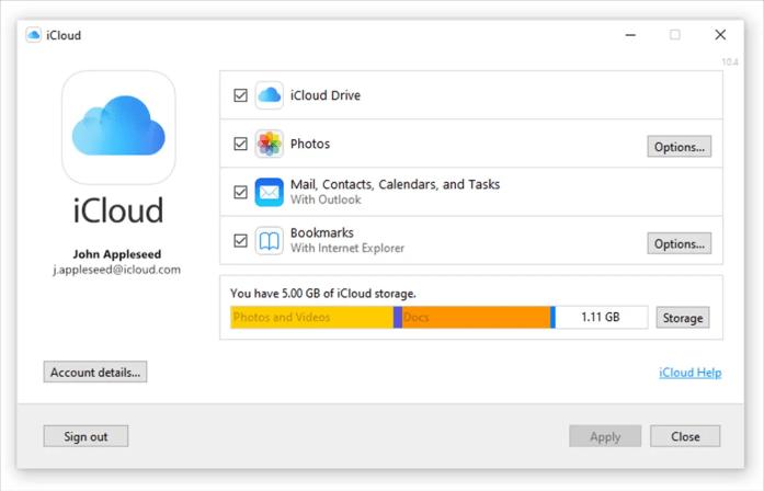 iCloud Universal Windows Platform