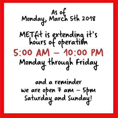 Extended Weekday Hours