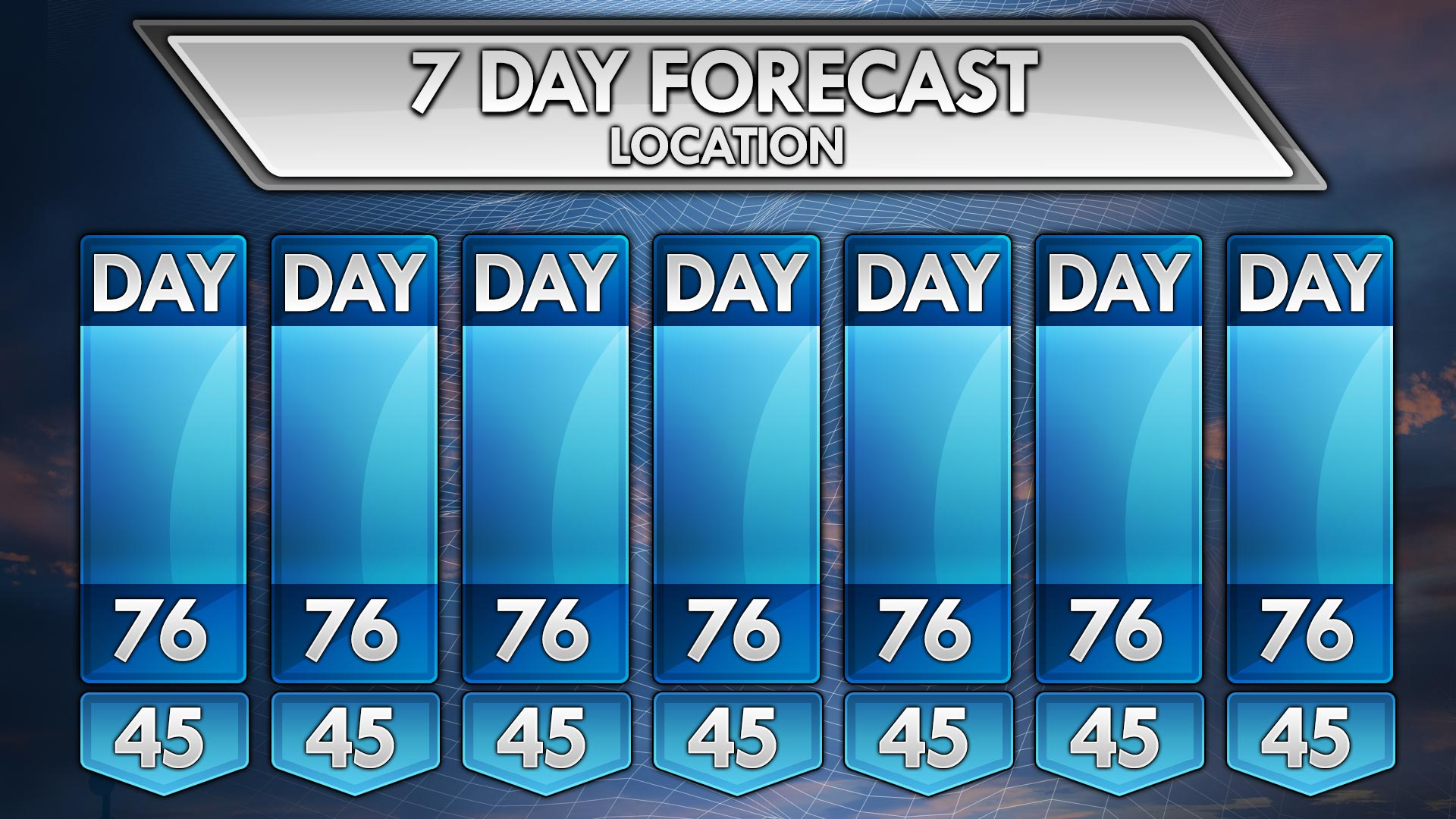 Weather Forecast Background Template