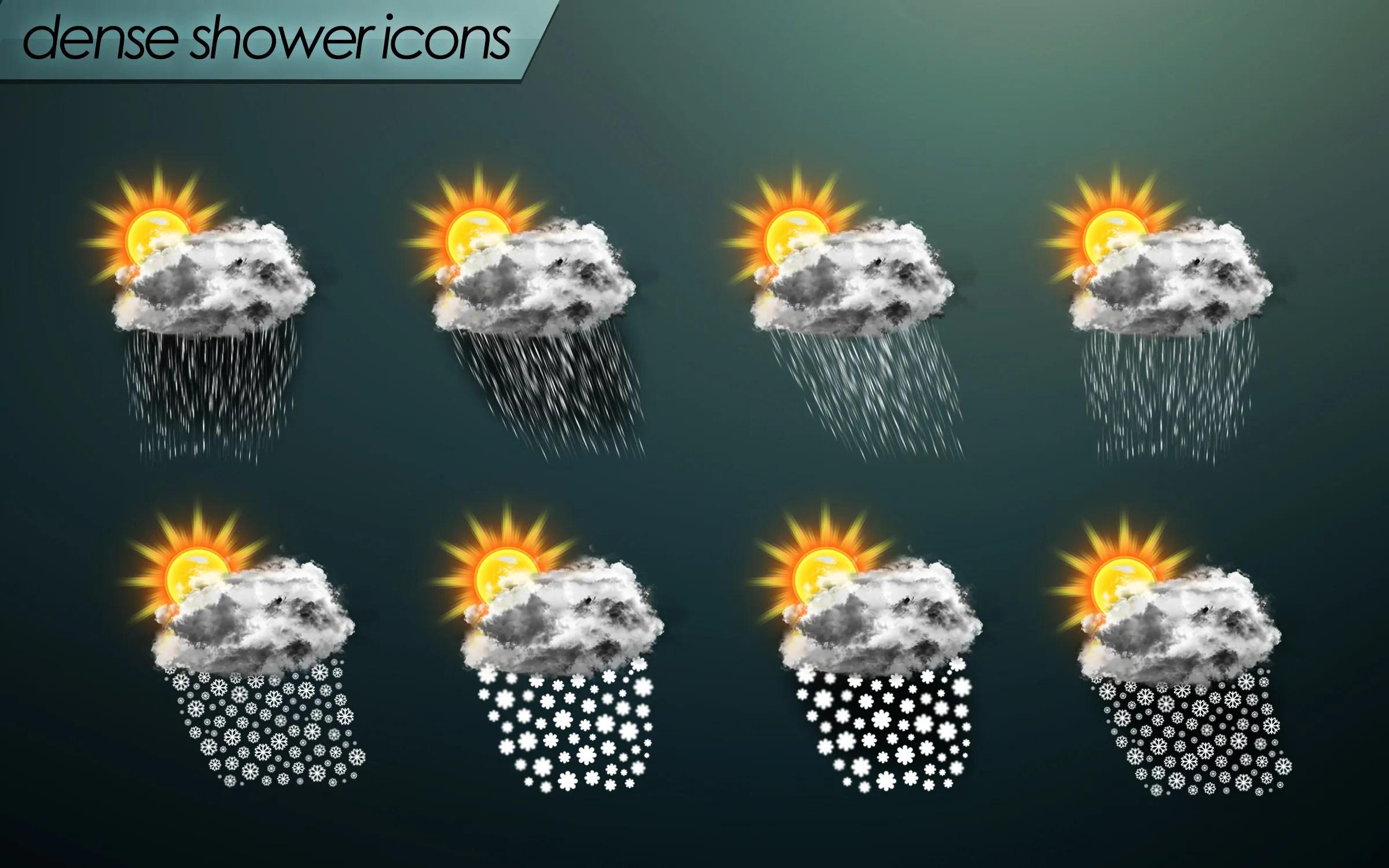 dense shower