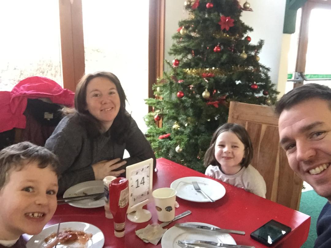 Dinner at the Gulliver's Land Santa Sleepover