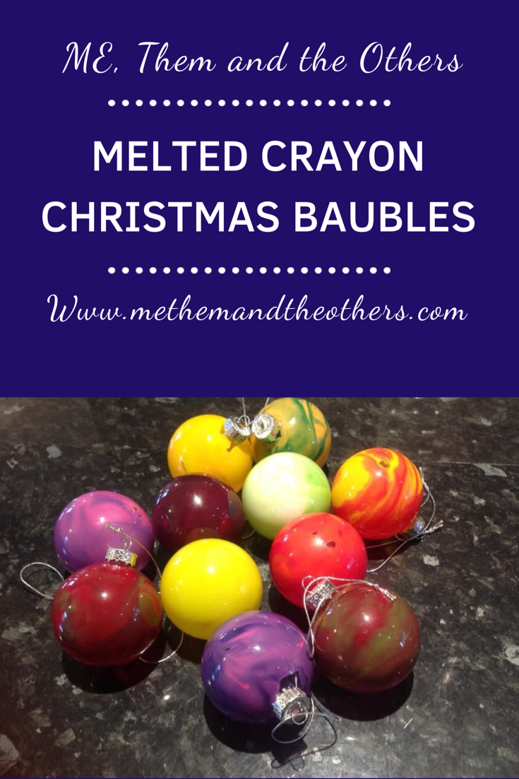 Cutting the crayons for the Melted crayon glass ornaments