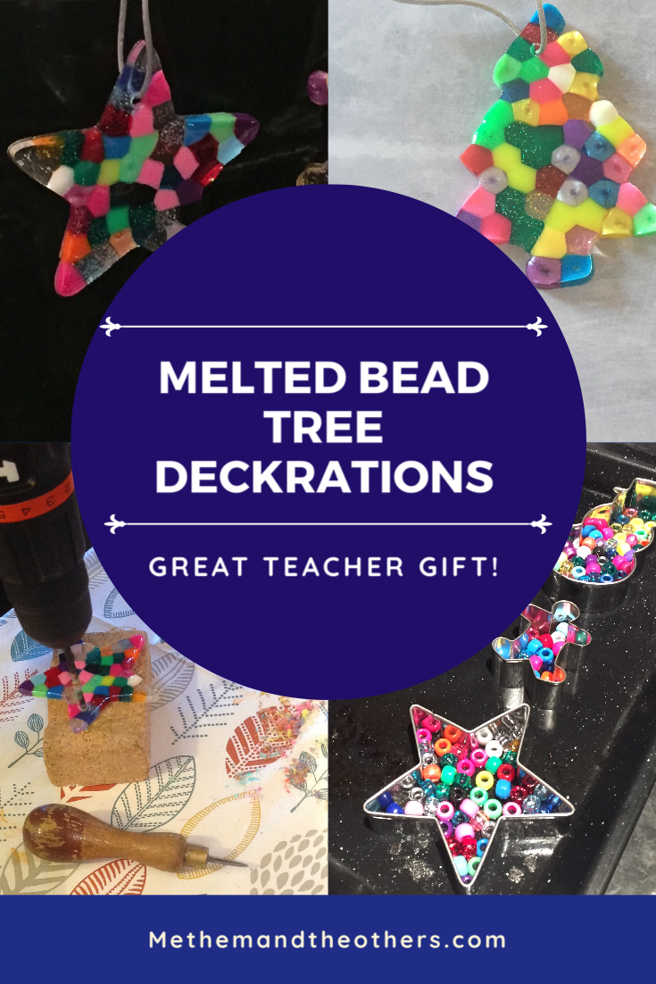 Melted bead tree decorations