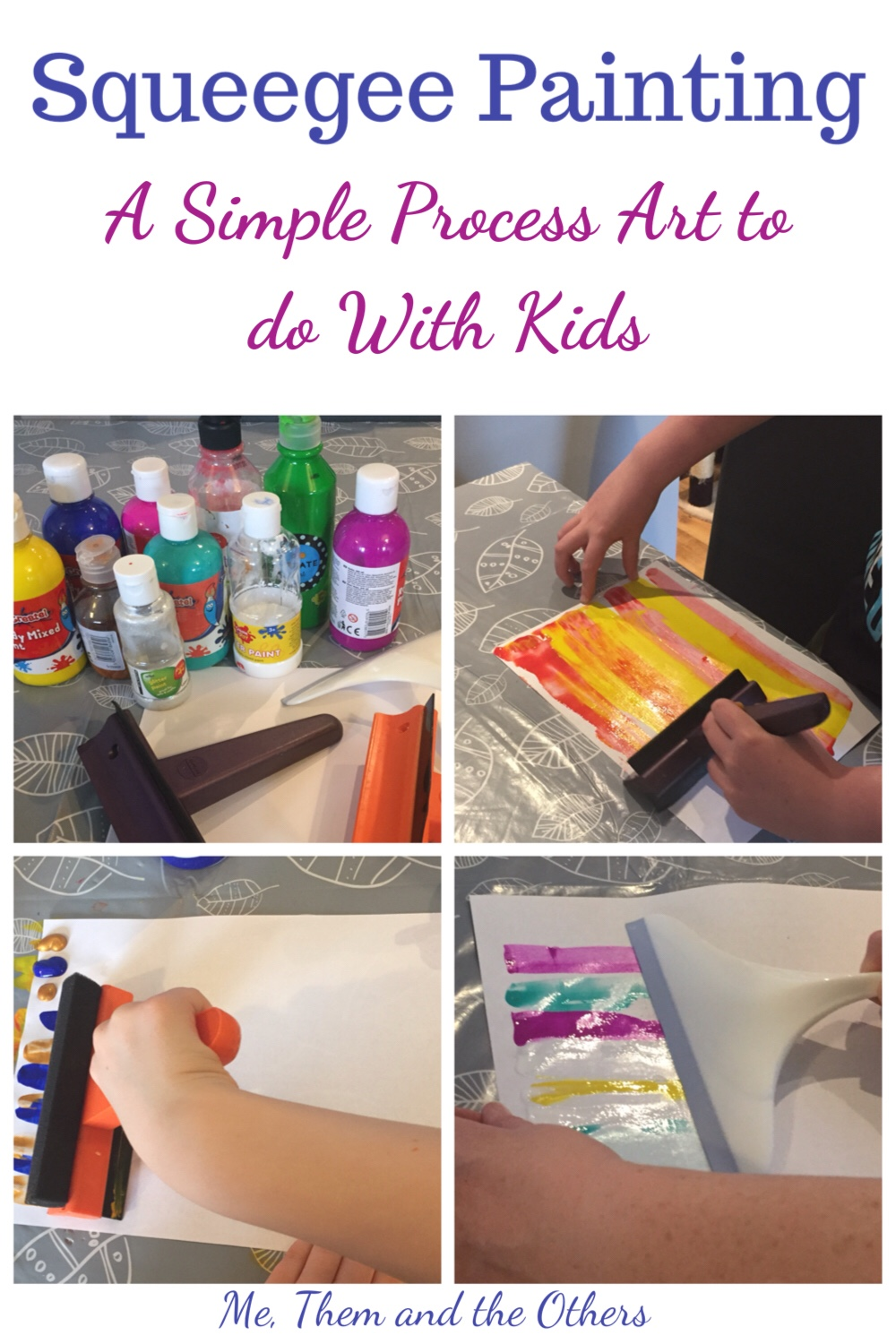 Squeegee painting a simple process art to do with kids