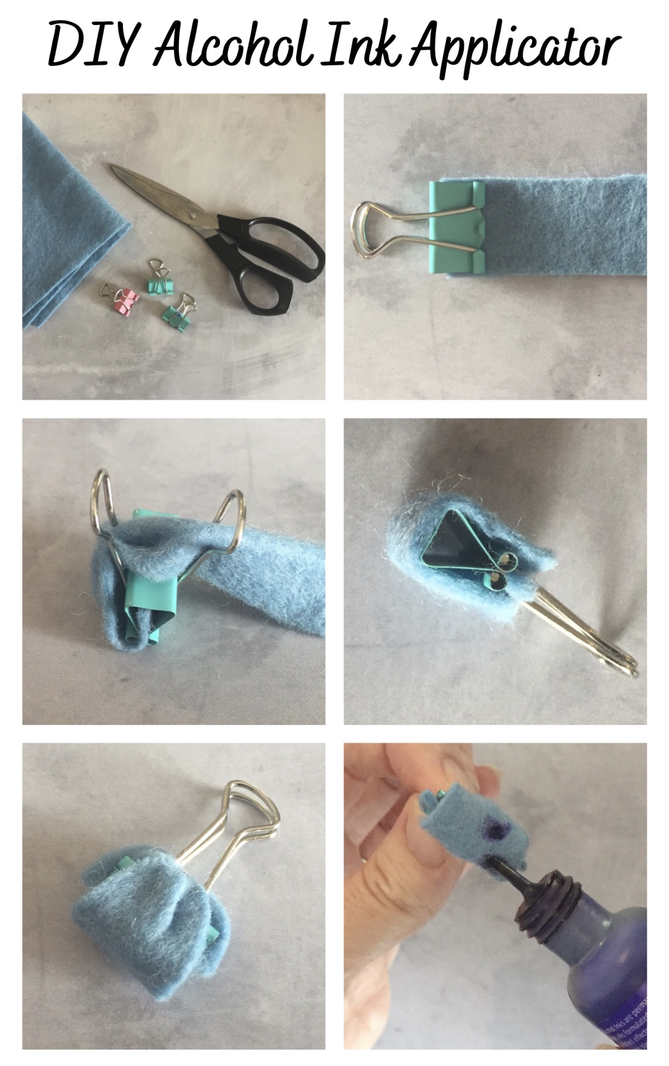 How to make an alcohol ink applicator