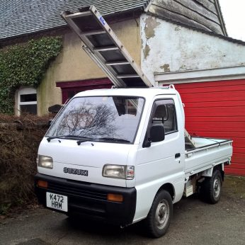 Suzuki Carry DD51T carrying ladders