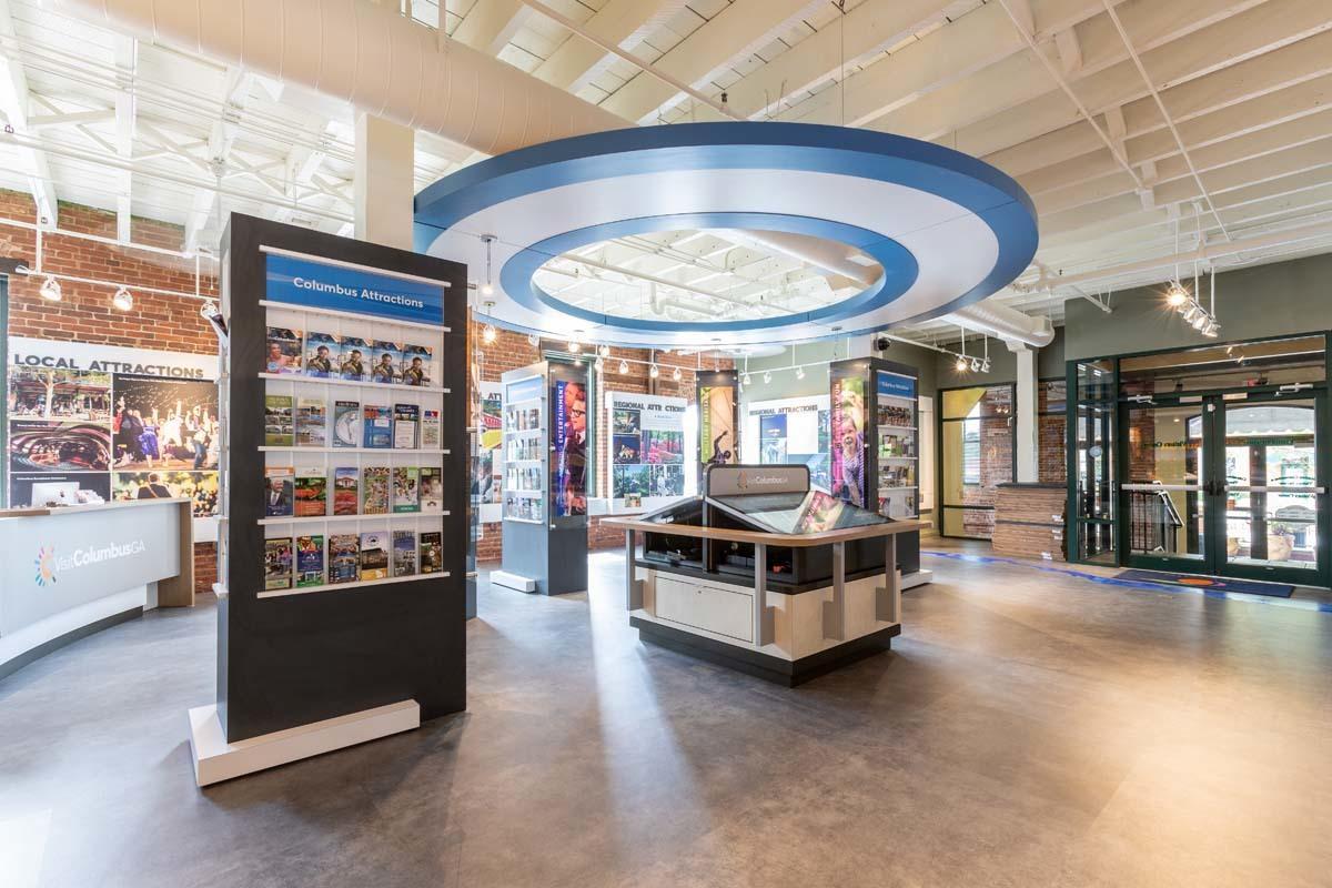 Welcome Center Design Literature Display