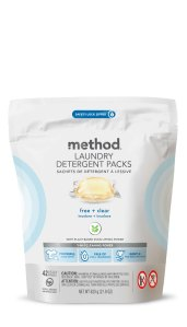 laundry detergent pack 42 load free + clear front