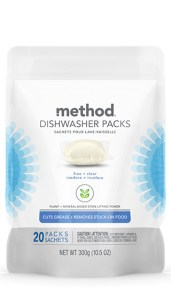 Dishwasher Pack 20 ct Free + Clear Front