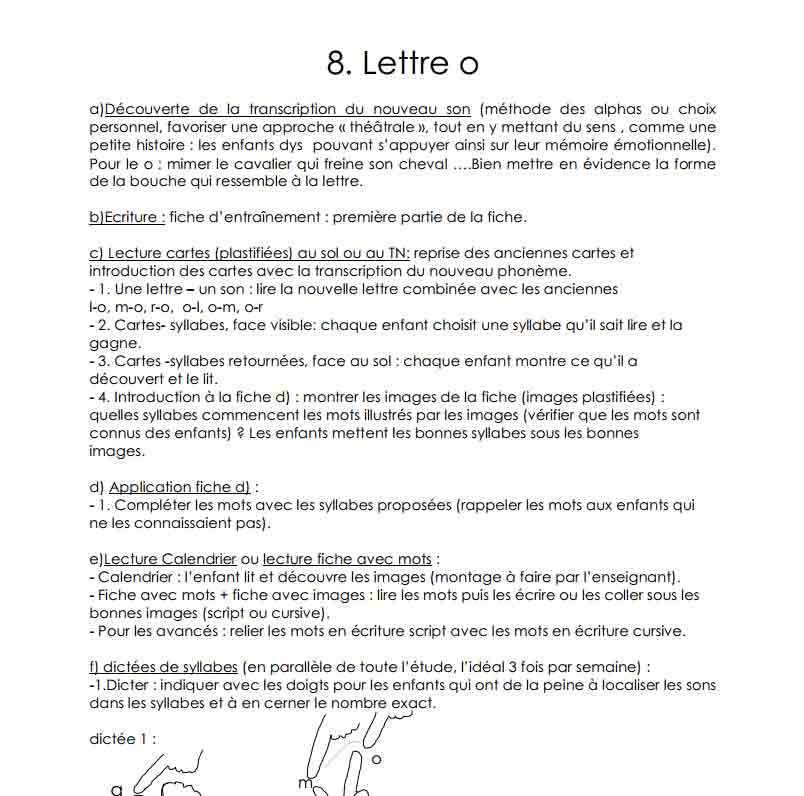 La lettre O