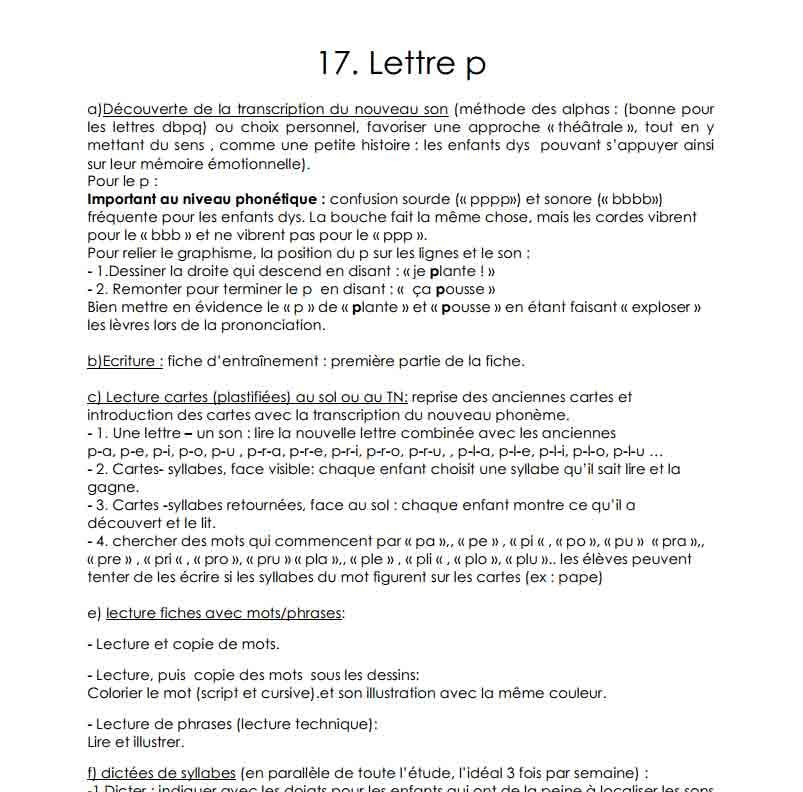 La lettre P